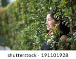 woman in the garden | Shutterstock . vector #191101928
