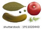 Pickled Vegetables Vector Image....
