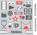 vector set  cinema and movie... | Shutterstock .eps vector #191102084