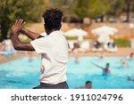 black athletic hotel resort... | Shutterstock . vector #1911024796