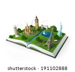 illustration of a opened book... | Shutterstock . vector #191102888