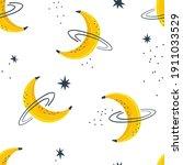 banana moon fruity planet...   Shutterstock .eps vector #1911033529