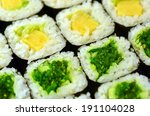 japanese sushi roll food on... | Shutterstock . vector #191104028