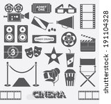 vector set  cinema and movie... | Shutterstock .eps vector #191104328