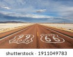 loney portion of route 66 with... | Shutterstock . vector #1911049783
