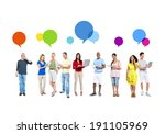 mixed race people lifestyle | Shutterstock . vector #191105969