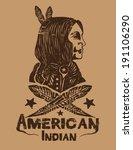 american indian vector | Shutterstock .eps vector #191106290