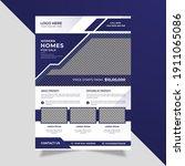 modern minimal real estate... | Shutterstock .eps vector #1911065086