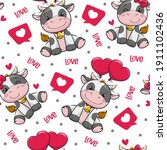seamless pattern valentine's... | Shutterstock .eps vector #1911102436