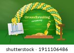 groundbreaking ceremony for...   Shutterstock .eps vector #1911106486