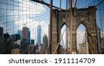 Brooklyn Bridge American Flag...