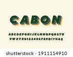 alphabet retro font  typeface...   Shutterstock .eps vector #1911114910