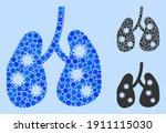 mosaic viral pneumonia icon... | Shutterstock .eps vector #1911115030