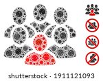 collage people crowd united... | Shutterstock .eps vector #1911121093
