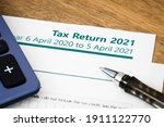 Small photo of UK HMRC self assessment income tax return form 2021