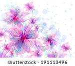 best romantic flower background | Shutterstock . vector #191113496
