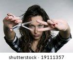 Pretty Woman With Scissors....