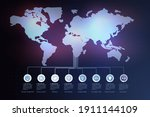 world  map  and  static  data ... | Shutterstock .eps vector #1911144109