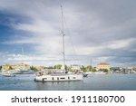 Sailboat Entering Zadar Bay...