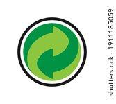 arrow icon. recycling... | Shutterstock .eps vector #1911185059