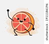 an illustration of cute orange...   Shutterstock .eps vector #1911186196