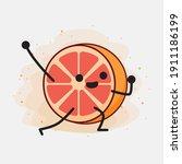 an illustration of cute orange...   Shutterstock .eps vector #1911186199