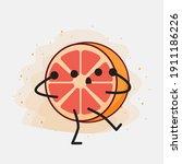 an illustration of cute orange...   Shutterstock .eps vector #1911186226
