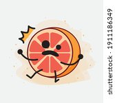 an illustration of cute orange...   Shutterstock .eps vector #1911186349