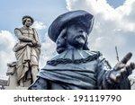 rembrandt statue on... | Shutterstock . vector #191119790
