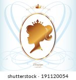 girl princess silhouette on... | Shutterstock .eps vector #191120054