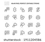 simple set of puzzle related... | Shutterstock .eps vector #1911204586