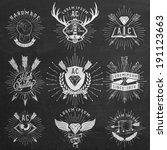 vintage hand drawn design...   Shutterstock .eps vector #191123663