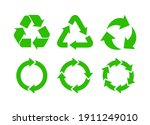 recycle icon set vector. rotate ... | Shutterstock .eps vector #1911249010
