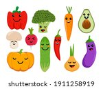 set of different cute happy... | Shutterstock .eps vector #1911258919