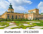 A View Of Gardens In Wilanow...
