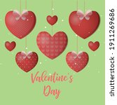 valentine's day is celebrated... | Shutterstock .eps vector #1911269686