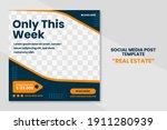 modern real estate social media ... | Shutterstock .eps vector #1911280939