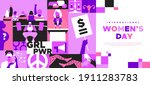 international women s day... | Shutterstock .eps vector #1911283783