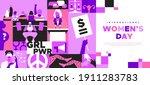 international women day landing ... | Shutterstock .eps vector #1911283783