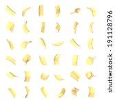 confetti glossy golden flakes...   Shutterstock . vector #191128796