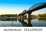 River Kwai Bridge With The Blue ...
