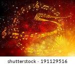 note music score | Shutterstock .eps vector #191129516