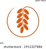 date fruit logo. isolated date... | Shutterstock .eps vector #1911327886