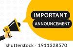 important announcement.... | Shutterstock .eps vector #1911328570