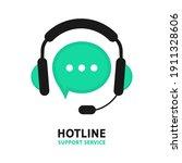hotline support service. online ...   Shutterstock .eps vector #1911328606
