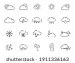weather forecast   thin line... | Shutterstock .eps vector #1911336163