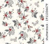 retro wild flower pattern in... | Shutterstock .eps vector #1911336679