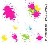 vector set   pink  yellow ... | Shutterstock .eps vector #1911339826