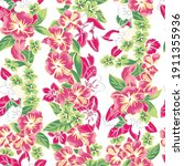 seamless floral tile fabric...   Shutterstock . vector #1911355936