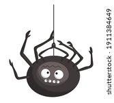 small orange funny black spider ... | Shutterstock .eps vector #1911384649